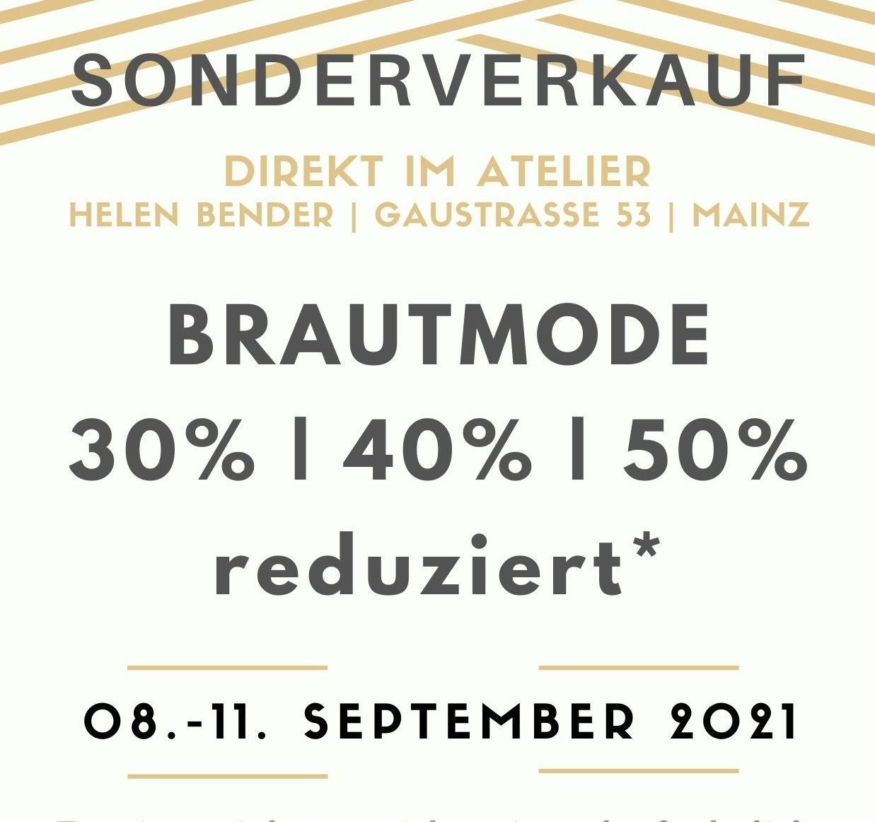 Sale-Week im Brautmodenatelier
